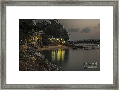 The First Evening Light Reflections Framed Print