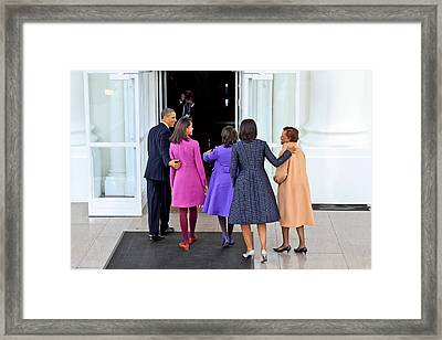 The First Family Framed Print