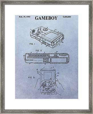 The First Gameboy Framed Print by Dan Sproul