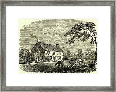 The First House Of George Stephenson Framed Print by Universal History Archive/uig