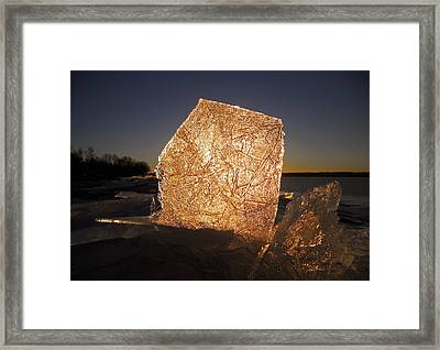 The First Ice ... Framed Print