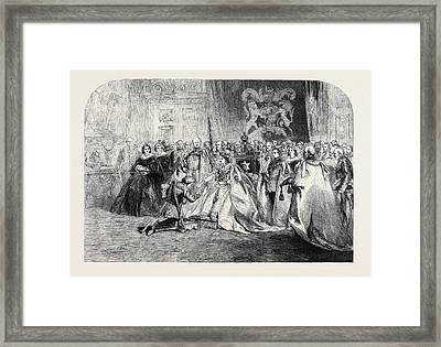 The First Investiture By Her Majesty Framed Print
