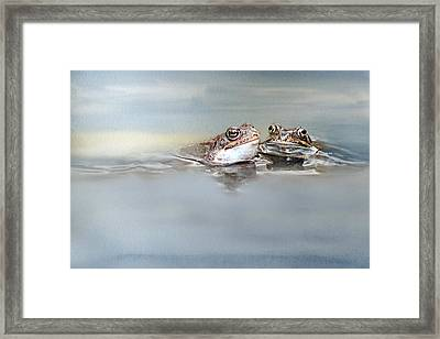 The First Kiss Framed Print by Heike Hultsch