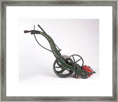 The First Lawn Mower Dating From 1830 Framed Print