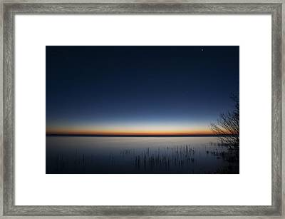 The First Light Of Dawn Framed Print