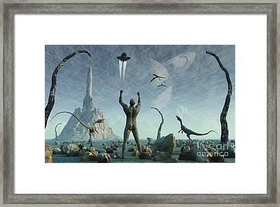 The First Man, Adam, Greets The Return Framed Print