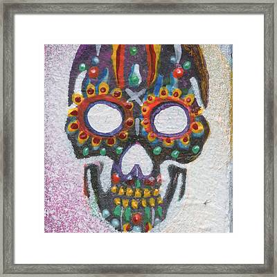 The First Mask Framed Print by KD Neeley