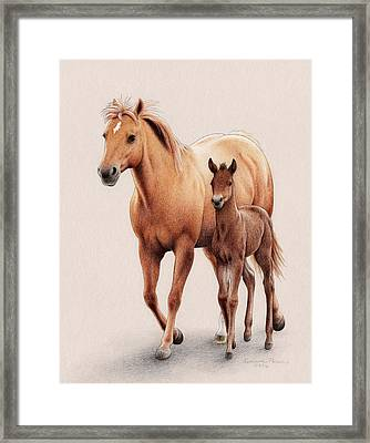 The First Of Spring Framed Print by Katherine Plumer