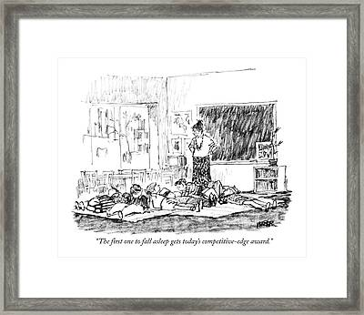 The First One To Fall Asleep Gets Today's Framed Print by Robert Weber