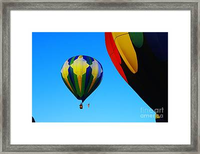 The First One Up  Framed Print by Jeff Swan