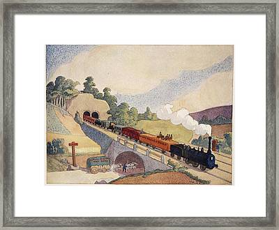 The First Paris To Rouen Railway, Copy Framed Print