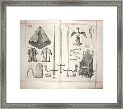 The First Plate Of The Regalia Framed Print