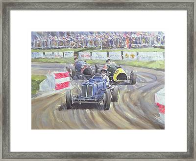 The First Race At The Goodwood Revival Framed Print