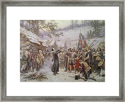 The First Sermon Ashore Framed Print by Jean Leon Gerome Ferris