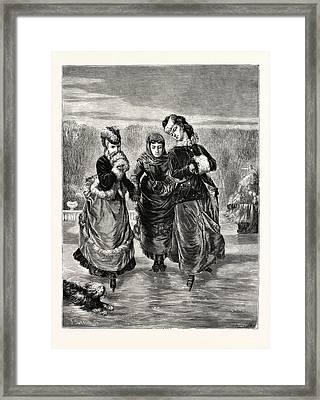 The First Skating Lesson Framed Print