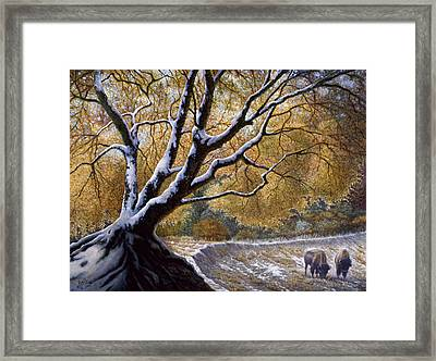 The First Snow Idaho Framed Print by Gregory Perillo