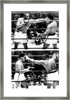 The First Sonny Liston Vs. Cassius Clay Framed Print