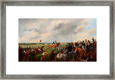 The First Steeplechase In South Australia 1846 Framed Print by Mountain Dreams