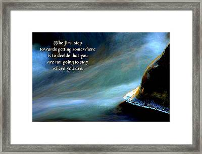 The First Step Framed Print by Mike Flynn