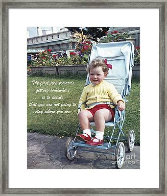 The First Step Framed Print by Terri Waters