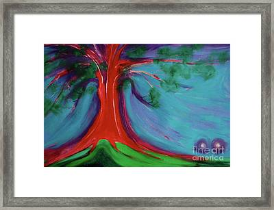 Framed Print featuring the painting The First Tree By Jrr by First Star Art