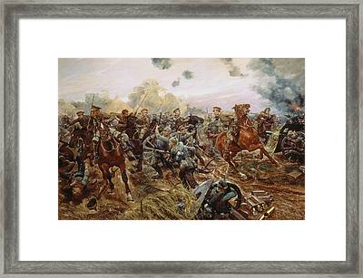 The First Vc Of The European War, 1914 Framed Print by Richard Caton II Woodville