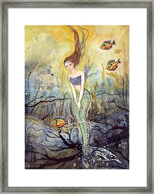 The Fish Are Biting Framed Print