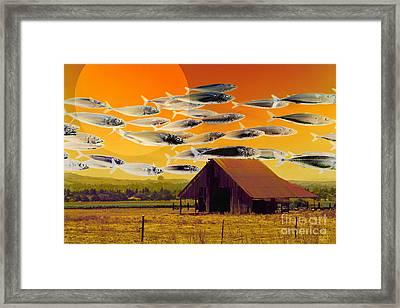 The Fish Farm 5d24404 Framed Print