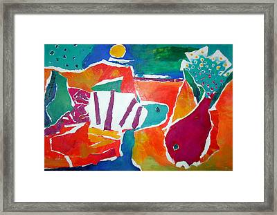 The Fish In The Sea Framed Print by Diane Fine