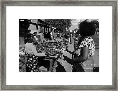 The Fish Market Framed Print by Aidan Moran