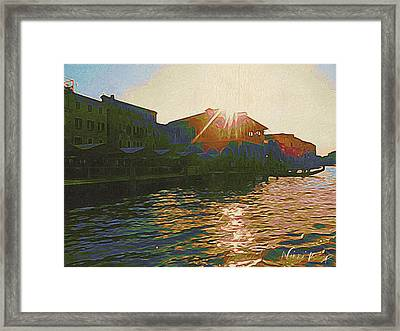 The Fish Market In Venice By Twilight Framed Print by Nikki Keep