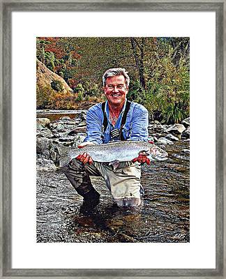 The Fish Of One Thousand Casts Framed Print