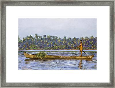 The Fisherman And His Boat Framed Print by Dominique Amendola