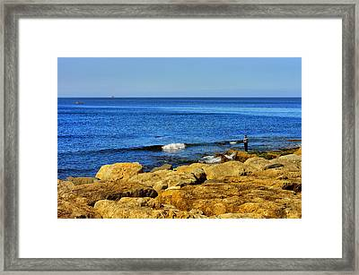 The Fisherman And The Sea Framed Print