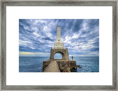 The Fisherman Framed Print by Anna-Lee Cappaert