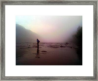 The Fisherman Framed Print by Dwayne Gresham