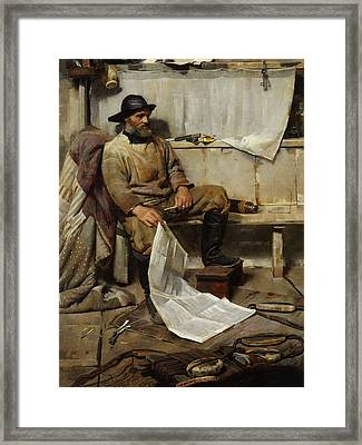 The Fisherman Framed Print by Frank Richards
