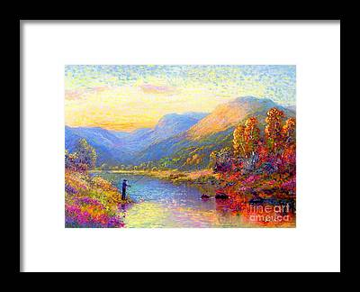 Colorado Fly Fishing River Framed Prints