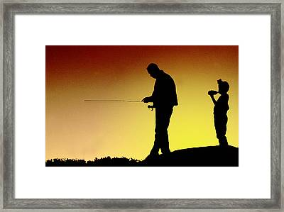 Framed Print featuring the photograph The Fisherman by Mike Flynn