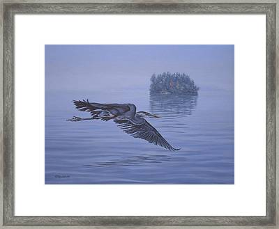 The Fisherman Framed Print by Richard De Wolfe