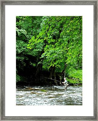 The Fisherman Framed Print by Russell Clenney