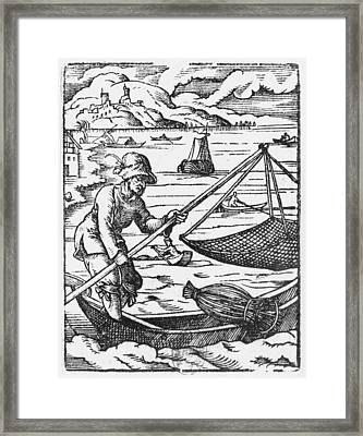 The Fisherman  Framed Print by Jost Amman