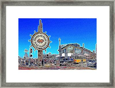 The Fishermans Wharf San Francisco California 7d14232 Artwork Framed Print by Wingsdomain Art and Photography