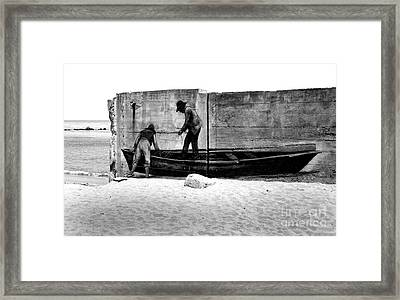 The Fishermen And The Sea... Framed Print by Chiara Corsaro