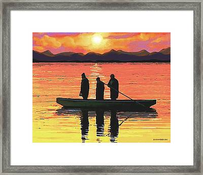 The Fishermen Framed Print by Sophia Schmierer