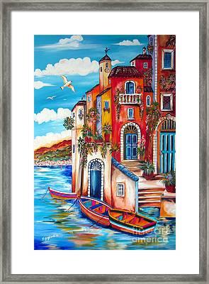 The Fishermen Villa By The Amalfi Coast Framed Print