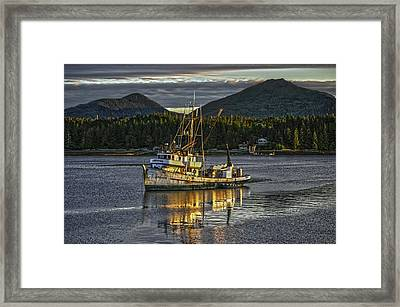 The Fishing Boat8 Framed Print