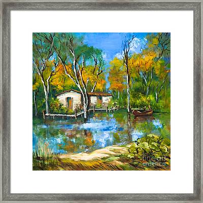 The Fishing Camp Framed Print by Dianne Parks