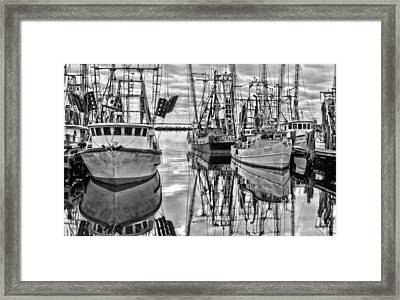 The Fishing Fleet Bw Framed Print