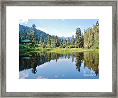 Framed Print featuring the photograph The Fishing Hole by William Wyckoff